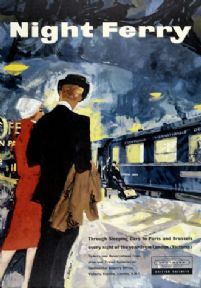 Vintage Travel Poster 'Night Ferry', British Railways poster, 1959